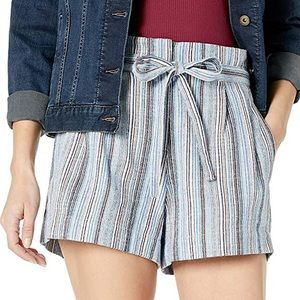 BCBG | Renee belted striped shorts size S